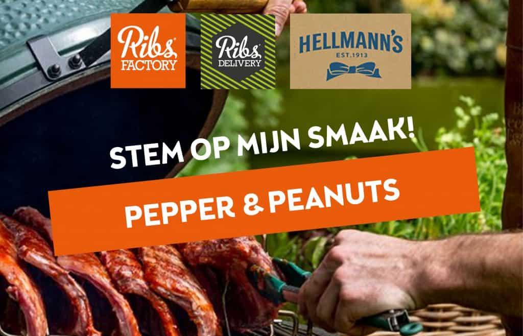 Pepper peanuts
